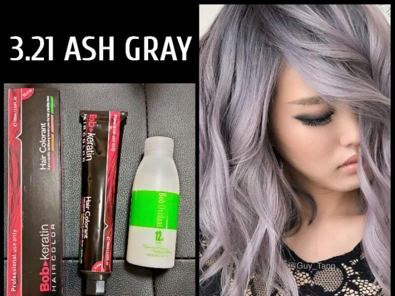 Ash Gray Hair Color