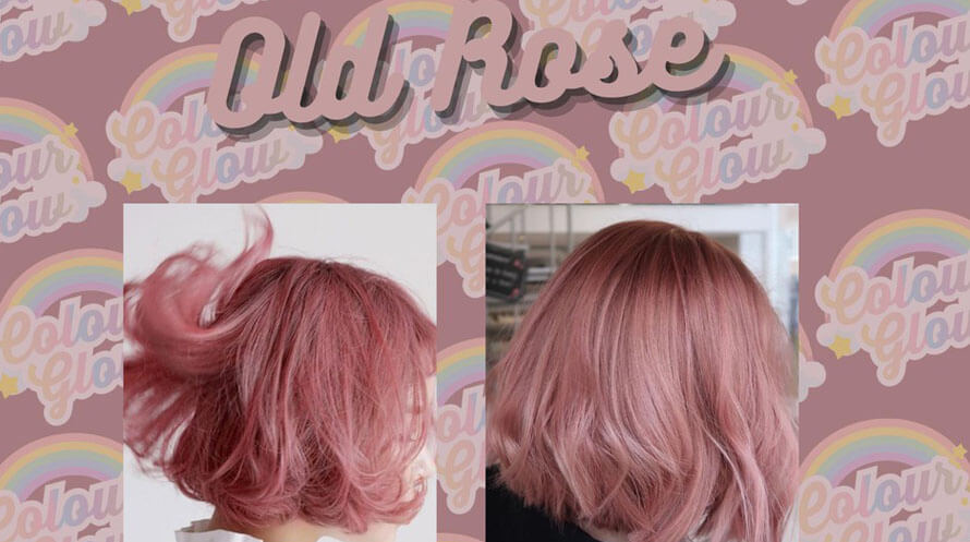 old rose color hair
