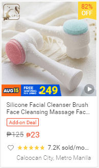 Silicone Facial Cleanser Brush Face Cleansing Massage